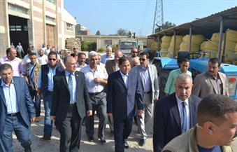 """بالصور.. وزير الرى ومحافظ الغربية يتفقدان مصنع مواسير الصرف المغطى ويفتتحان """"سحارة"""""""