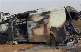 إصابة شخصين فى حادث انقلاب ميكروباص على طريق (القصير – مرسى علم)
