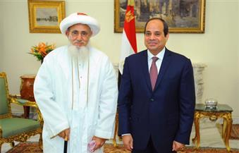 بالصور.. السيسي يستقبل سلطان طائفة البهرة بالهند ويشيد بجهودهم لترميم المساجد الأثرية في مصر