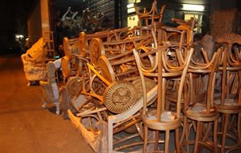 """كرسى """" الخيزران """" الدمياطى يغزو مقاهى الأردن فى رمضان"""