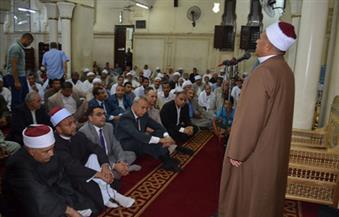 بالصور.. الدعاء لمصر ولشهدائها في احتفال ليلة القدر بمسجد سيدي عبدالرحيم القنائي