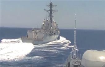شاهد بالفيديو.. تحرش بين الأمريكان والروس في أعالي البحار