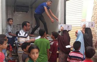 توزيع 1000 كرتونة لأبناء قبيلتي بني هلال والدابودية في أسوان