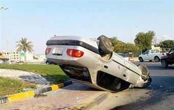"""مصرع سيدة وإصابة 4 أشخاص في حادث انقلاب سيارة بطريق """"الطور – أبورديس"""""""