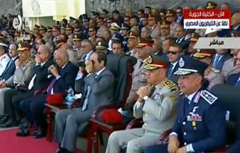 السيسي يشهد الاحتفال بتخرج الدفعة الـ 83 طيران بالكلية الجوية