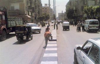 بالصور.. نظافة وتشجير الشوارع بمركزي منفلوط والقوصية ووضع سلات قمامة أمام المحال التجارية