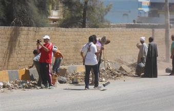 بالصور.. رفع 100 طن مخلفات وقمامة فى أبنوب