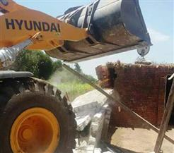 بالصور..إزالة 44 حالة تعد علي الأراضي الزراعية بالشرقية