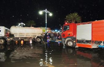 """بالصور.. """"مياه مطروح"""": زيادة الوارد والاستهلاك وراء تسرب الصرف الصحي بالكورنيش"""