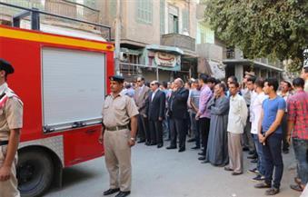 بالصور.. جنازة عسكرية لنقيب شرطة توفي في حادث انقلاب سيارة بالفيوم
