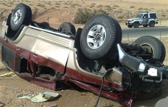 انقلاب سيارة ملاكي بالقاهرة الجديدة ..وكثافات عالية بكوبري أكتوبر