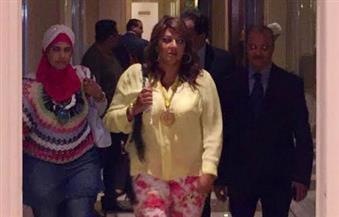 بالصور .. وصول هالة صدقي لحفل تكريمها بالإسكندرية