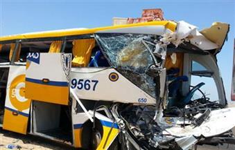 الصحة: إصابة 16 مواطنًا في حادث تصادم أتوبيس بسيارة نقل بالإسماعيلية