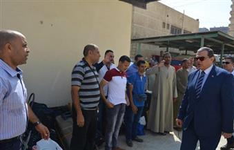 """بالصور.. """"سعفان"""" يودع أول فوج من عمالة موسم الحج لخدمة ضيوف الرحمن"""