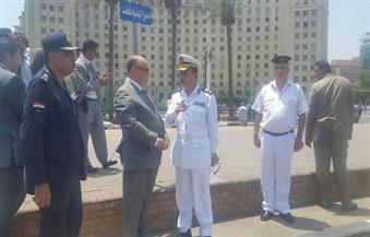 بالصور.. مدير أمن القاهرة يتفقد الخدمات الأمنية بميدان التحرير
