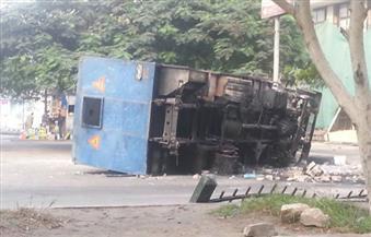 إصابة ضابط و5 مجندين في انقلاب سيارة أمن مركزي بقنا