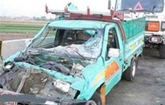 إصابة شخصين في حادث تصادم سيارتين بدائري المنيب
