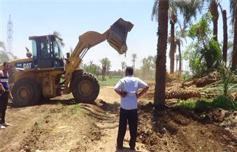 إزالة 10 حالات تعدٍ علي أراضي أملاك الدولة بمركز أسيوط