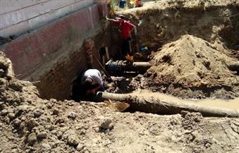 بالصور.. إنشاء محطة مياه جديدة بكوم أمبو  فى أسوان