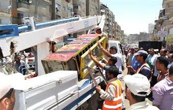 حملة لرفع الإشغالات من طلعت حرب ومحمود بسيونى وأمام مجمع التحرير