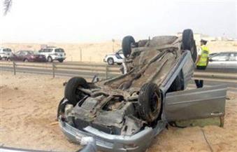 إصابة 5 أشخاص في حادث انقلاب سيارة ملاكي بالمنيا