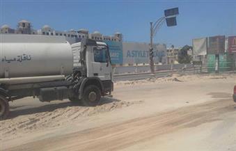 """بالصور.. لأول مرة في مصر.. البحر الأحمر تستخدم المياه """"الرمادية"""" في نظافة شوارع الغردقة"""