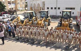"""بالصور بمشاركة القوات المسلحة.. انطلاق المرحلة الثانية من مبادرة """"حلوة يا بلدي"""" بالوادي الجديد"""
