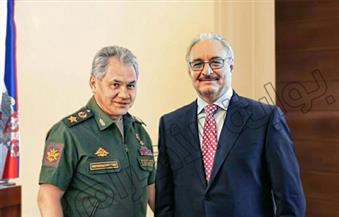 """انفراد.. """"بوابة الأهرام"""" تنشر صور وتفاصيل الزيارة السرية للفريق حفتر قائد الجيش الليبي إلى روسيا"""