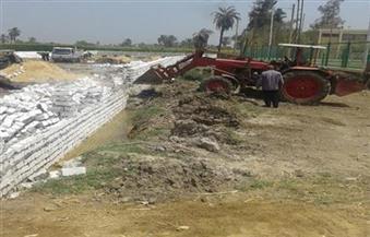 إزالة تعديات على نهر النيل والأراضي الزراعية بمساحة فدان بقنا