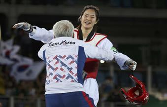 ذهبية وزن دون 67 كلغ للكورية الجنوبية اوه قي التايكواندو