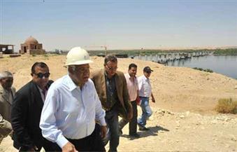 بالصور.. وزير النقل يُتابع تنفيذ محور كلابشة على النيل
