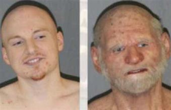 """الشرطة الأمريكية تعتقل مهرب مخدرات شابًا تخفى فى """"قناع رجل عجوز"""""""