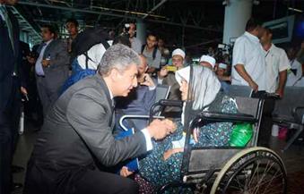 بالصور.. مصر للطيران تحتفل بتوديع أول أفواج الحج من مطار القاهرة الدولي