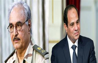 """حفتر تعقيبًا على حوار الرئيس السيسى """"للأهرام"""": وجود مصر إلى جوار الليبيين يبعث فى نفوسنا الطمأنينة"""