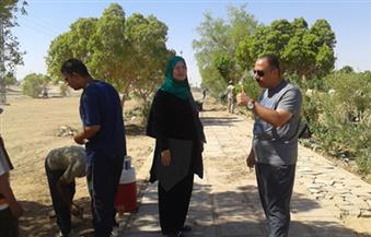 """تجميل قرى ناصر الثورة بالوادى الجديد في المرحلة الثانية لمبادرة """"حلوة يا بلدي"""""""