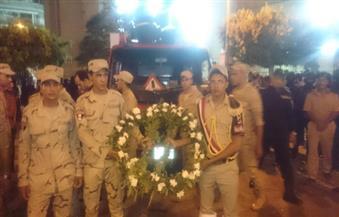 بالصور.. الآلاف يشيعون جثمان النقيب محمد السعيد بالغربية وسط هتافات معادية للإخوان
