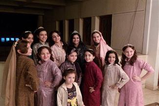 """""""أرض الخلافة"""" مسرحية يقدمها أطفال على مسرح مكتبة حسن طوبار بالدقهلية"""