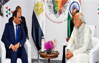 الرئيس السيسي يؤكد حرص مصر على تعزيز العلاقات مع الهند في كافة المجالات