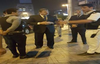 مدير أمن الجيزة يفاجئ الأكمنة الليلية بالشوارع فجر اليوم