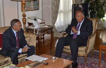 شكري يستقبل وزير خارجية أرض الصومال
