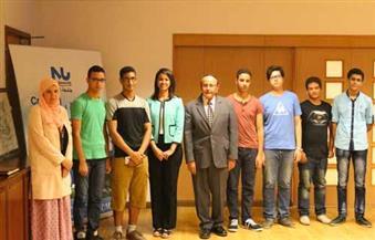 بالصور.. جامعة النيل تكرم الطلاب الفائزين ببرونزتين بأوليمبياد العلوم
