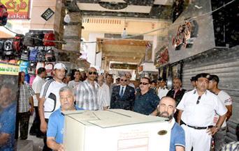 مدير أمن بورسعيد يقود حملة لإزالة الإشغالات بالمنطقة التجارية بحي العرب