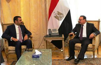 """القاضي يبحث مع قيادات """"التقنية السعودية"""" فرص الاستثمار في الاتصالات بالسوق المصرية"""