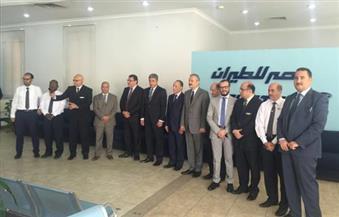 على هامش المؤتمر الوزارى العالمى بالرياض..فتحى يلتقى وزيرى الطيران والنقل السعودى والأردنى