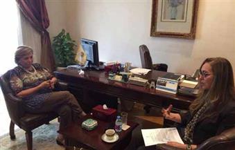المديرة العامة لمنظمة المرأة العربية تلتقي ممثل بنك التنمية الإفريقي لبحث التعاون بين الجانبين