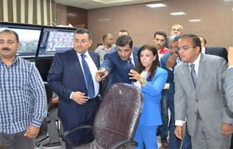 وزيرة الاستثمار في زيارة لمدينة الإنتاج الإعلامي