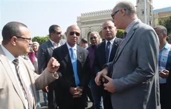"""بالصور.. """"تيمور"""" يفتتح ميدان المحكمة بمصر الجديدة بعد تطويره بتكلفة مليون جنيه"""