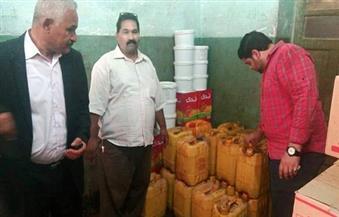 إعدام 800 كجم زيت طعام غير صالح للاستهلاك بطما بسوهاج