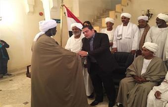 """السفارة المصرية بالخرطوم تستقبل وفدًا من الرموز الصوفية وعلماء السودان لتقديم التعازي في """"زويل"""""""