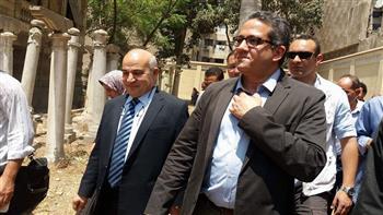 وزير الآثار يتفقد قصر الشناوي بعد ترميمه بالمنصورة